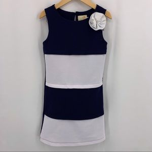 Blue and white sleeveless dress size 6